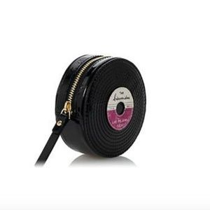 kate spade FANCY FOOTWORK RECORD COIN PURSE nwt
